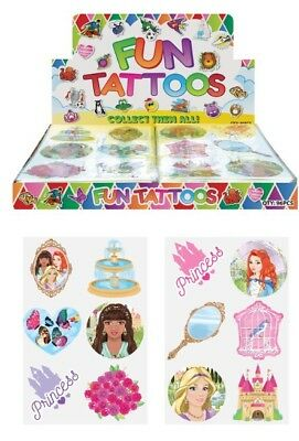 72 Childrens Temporary Tattoos Princess Kids Loot Party Bag Fillers Pinata 17