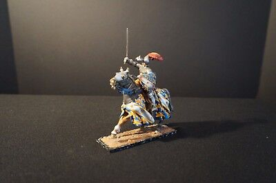 """St. Petersburg"" 54 mm mounted Knight with sword (blue/yellow/white)"