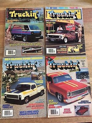 TRUCKIN 4 MAGAZINE LOT CHEVY MINI TRUCK RESTORATION CAR CALIFORNIA AUTO BODY 80s