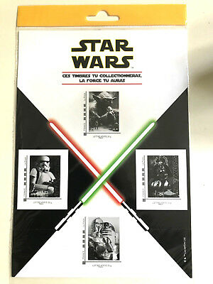 Collector 4 Timbres French Stamps Star Wars 2015 Sous Plastique Sealed New Neuf