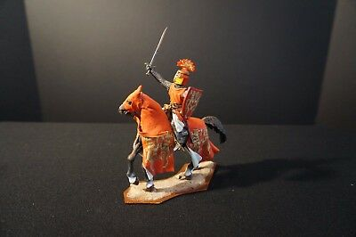 """St. Petersburg"" 54 mm mounted Knight with sword...Red coat with Lions!"