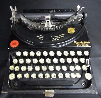 Vintage 1926 Remington Portable Manual Typewriter In Case With New Ribons