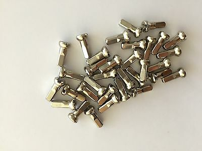 Silver bicycle spoke nipples: alloy or brass varying lengths - 12mm, 14mm, 16mm