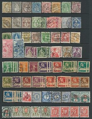 3 scans- Collection of mostly good used  Switzerland stamps.