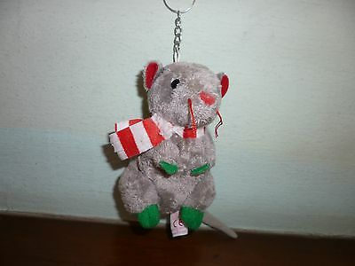 TY The Baby Beanies Collection - Dickens Rat with Keychain