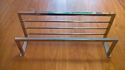Chrome Towel Rail for Bathroom - Wall Mounted Hotel Style, Multiple Towels