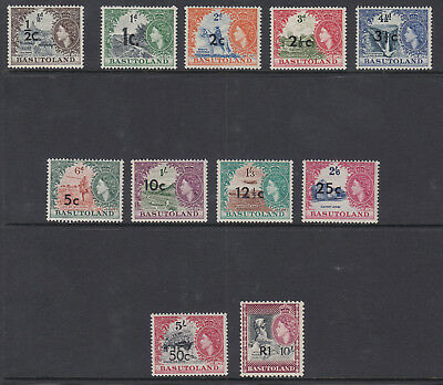 BASUTOLAND 1961 DEFINITIVES SG58/68 (Unchecked) - Lightly mounted mint