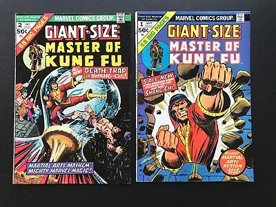 Giant-Size Master of Kung Fu #1 & #2 - Shang-Chi Marvel Comic Group High Grades