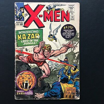 The X-Men #10 Collection B Uncanny 1st appearance of Ka-Zar Silver Age Stan Lee