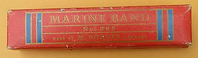 MARINE BAND No. 365 Harmonica Made by M. Hohner in Germany Key G