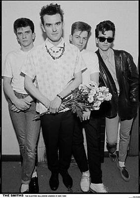 "The Smiths Backstage London 1983 Poster  23.5"" x 33"" UK import Morrissey Marr"