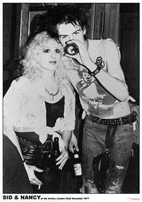 "Sid Vicious and Nancy Vortex 1977 Poster  23.5"" x 33"" UK import Sex Pistols"
