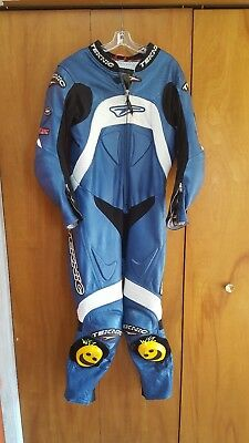 teknic one piece leather suit size 42 motorcycle supermoto