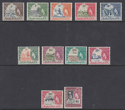 Basutoland 1961-63 Definitives Set  11 Values   Sg69/79 - Lightly Mounted Mint