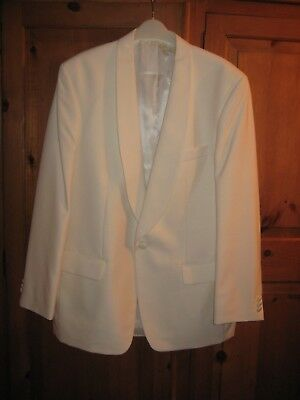 New men's white dinner jacket by HR Tailring. size 42L ideal cruise/evenings