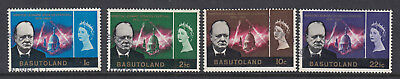 Basutoland: 1966 Winston Churchill Commemoration SG102-105 Fine Used
