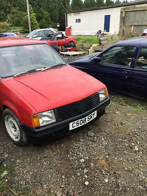 Vauxhall Nova Saloon Red