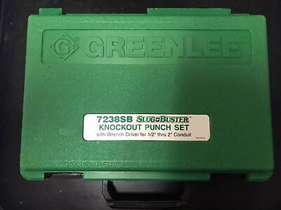 "Greenlee 7238SB Slug Buster Knockout Punch Set (1/2"" - 2""), Looks & Works GREAT!"