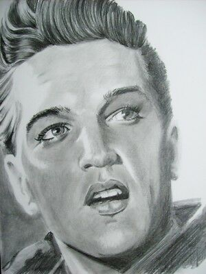 Elvis Presley, (Young) Original Pencil Portrait