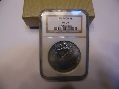 1995 Silver Eagle Limited Edition MS 70 Graded by NGC