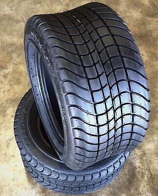 2 New  205/50-10 205x50-10 4 Ply Deestone Golf Cart Tires DS7000 EZGo