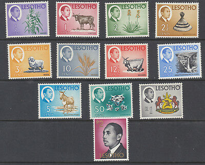 Lesotho 1967  National Products and Sightseeing King  set SG125-152 - MNH