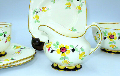 Art Deco Plant Tuscan tea set