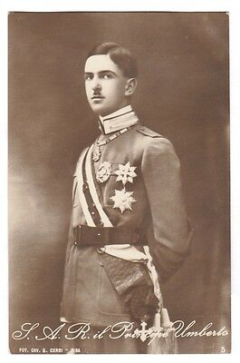 Rare Royalty Photograph Prince Umberto II of Italy 1924