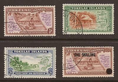TOKELAU ISLANDS - 1948/56 - SG1/3 + SG5 - Fine Used - (JB837)