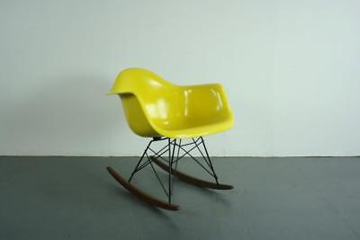 Vintage Eames Herman Miller Rar Rocking Chair Canary Yellow #2142
