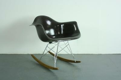 Vintage Eames Herman Miller Rar Rocking Chair Charcoal Grey #2139