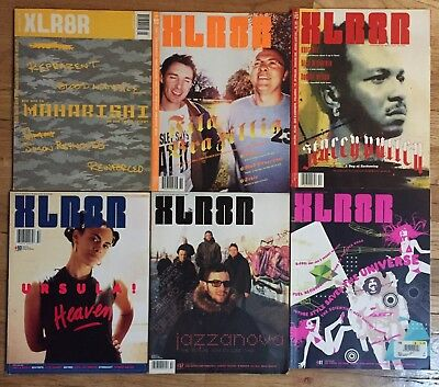 XLR8R BPM Mixmag Magazine 16 Lot EDM Hip Hop House Techno Dance Music