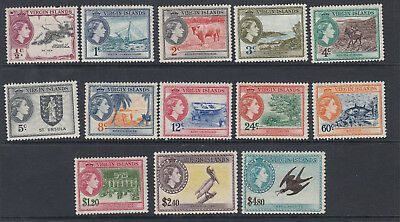 BRITISH VIRGIN ISLANDS-1956-62 Set to $4.80 Sg 149-161 - MOUNTED MINT