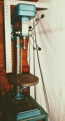 pillar drill on home made steel stand
