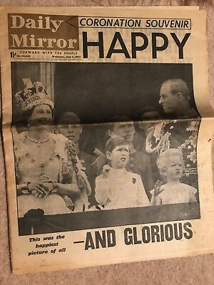 Daily Mirror Newspaper 1953 Coronation Special