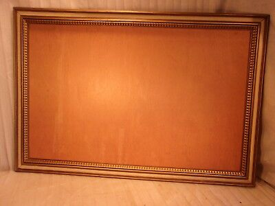 LARGE vintage mid century french provincial frame 26x37 hold 22x35 molding 2 1/2