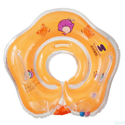 2017 Newest Inflatable Baby Newborn Neck Float Ring Bath Toy Swimming Circle KC6