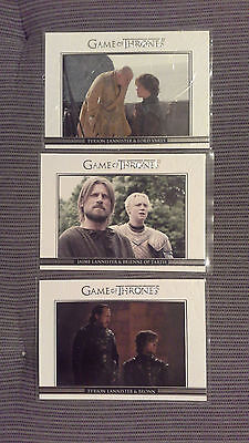 Game of Thrones Season 3 Trading Cards - Lot von 3 Relationships Karten