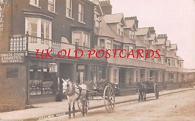 Suffolk - FELIXSTOWE, Shops & Street Scene in Holland Rd, Real Photo used 1907.