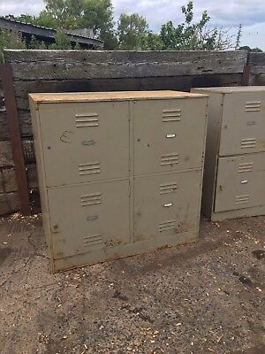 Two Vintage Industrial Lockers