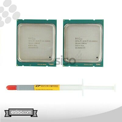 MATCHING PAIR SR1A6 INTEL XEON E5-2680V2 10 CORE 2.80GHz FOR DELL T5600 C8220