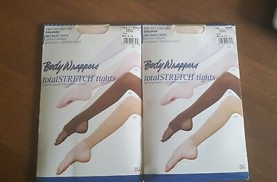 Set of 2 Body Wrappers * Theatrical Pink * Girl's M/L (8-14) Full Footed Tights