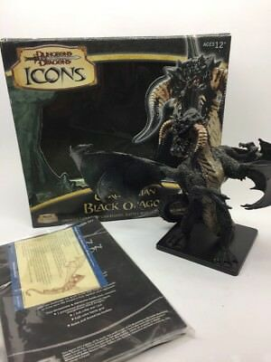 Dungeons And Dragons Icons Figure Black Dragon