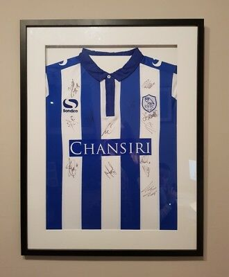 Sheffield Wednesday SIGNED & FRAMED. Play Off final 2015/16