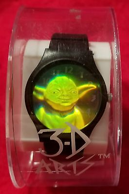RARE STAR WARS YODA HOLOGRAM WRIST WATCH by 3-D Arts. New in orgnl  packaging