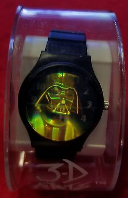 STAR WARS DARTH VADER HOLOGRAM WRIST WATCH by 3-D Arts. New in orgnl  packaging