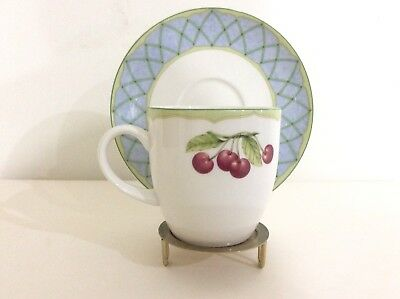 Mikasa Optima Fine China Y4001 Fruit Rapture Coffee/Tea Cup & Saucer