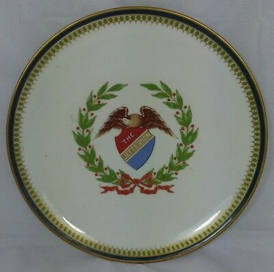 """O.P. CO. Syracuse China Plate """"The Jefferson"""" Hand Painted."""