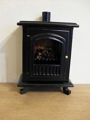 Dollshouse Miniature ~ BLACK ~ WOOD BURNER