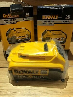 TWIN PACK Dewalt 18V li-ion Batteries 4oAh DCB182